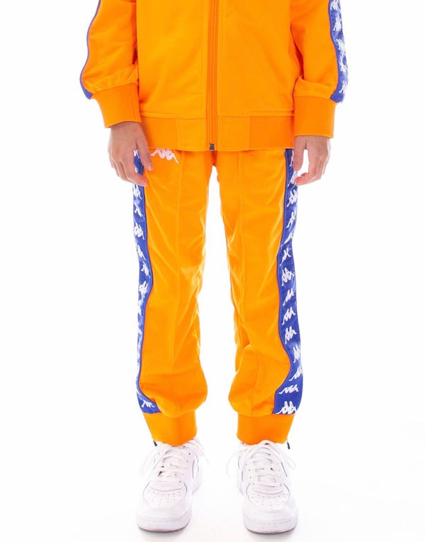 Kappa Kids-222 Banda Rastoriazz Trackpants-Orange/Royal