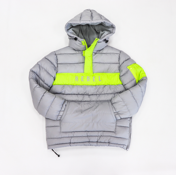 Rebel Minds-Anorak Puffer Jacket-Grey