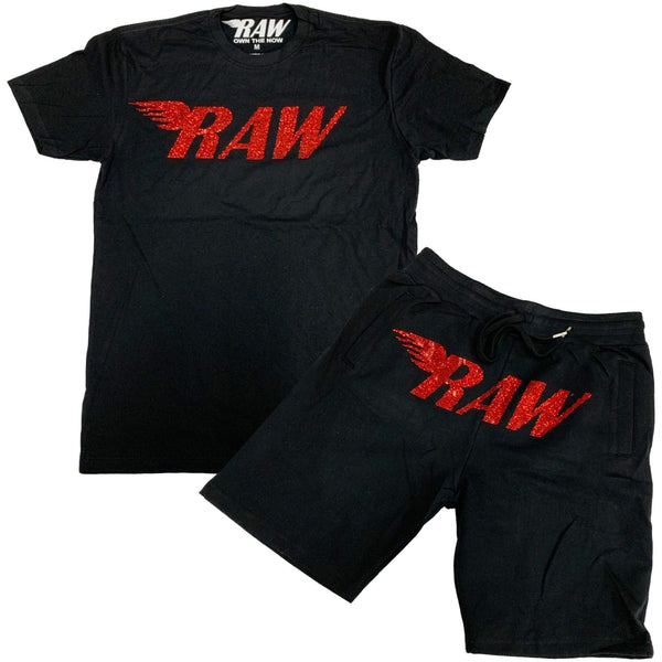 Raw-Red Bling Set-Black/Red