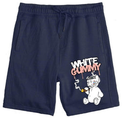 Runtz-White Gummy Shorts-Navy Blue
