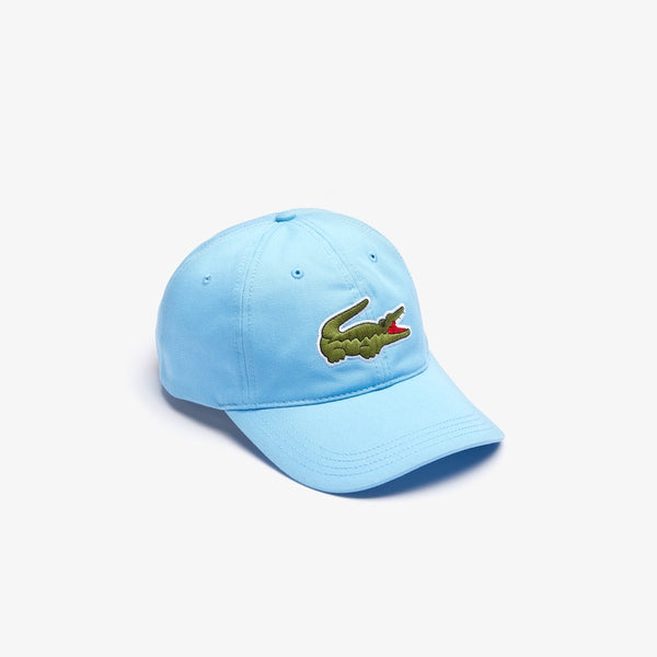 LaCoste-Men's Oversized-Croc Cap- Light Blue • 709-RK4711-51