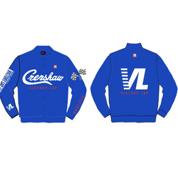 Headgear Classic-Crenshaw Victory Lap Satin Jacket-Royal Blue