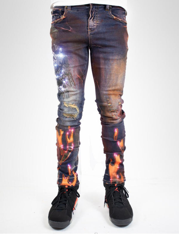 Industrial Indigo-Flaming Denim-Indigo