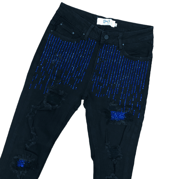 DNA-Drop Crystal Jeans Royal Stone-Black