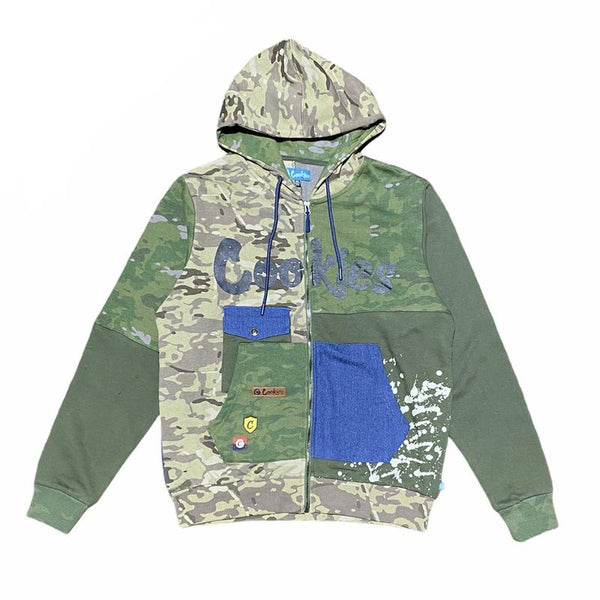 Cookies-Backcountry Fleece Zip Hoodie-OIive