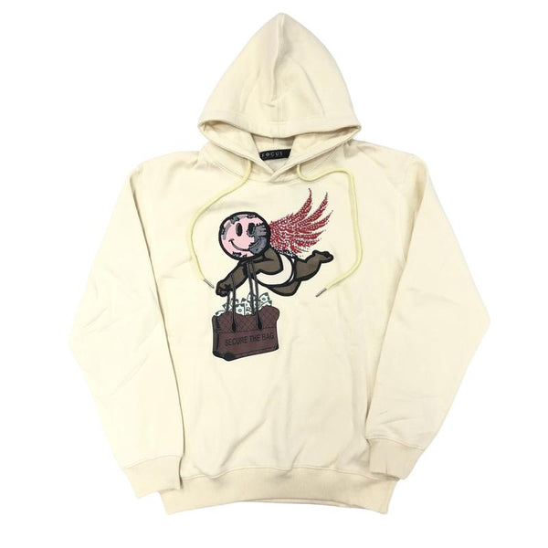 Focus-Secure The Bag Hoodie-Cream