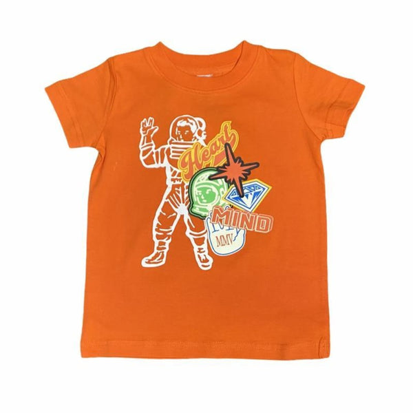 B.B.C Kids-BB MVP Astronaut S/S Tee-Red Orange
