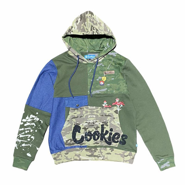 Cookies-Backcountry Fleece Pullover Hoodie-Olive