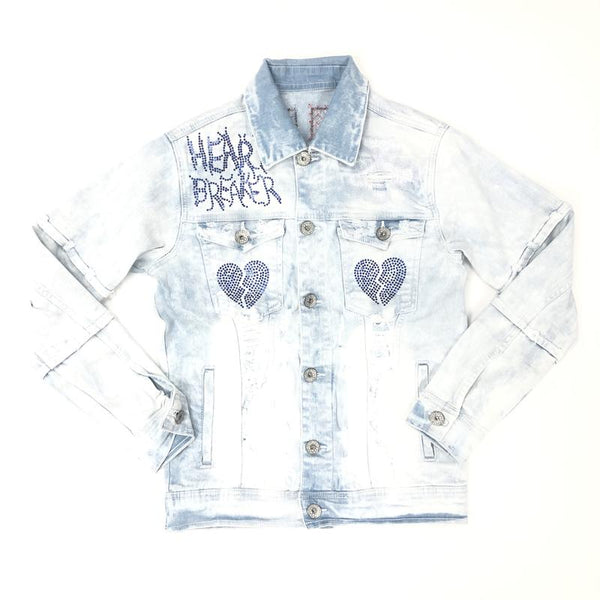 Focus-Heart Breaker Denim Jacket-Light Wash