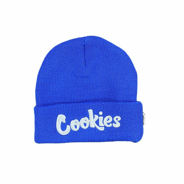 Cookies-Original Mint Knit Beanie-Royal/White