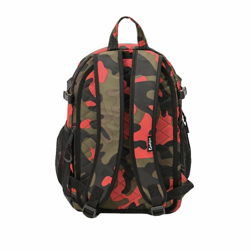 "Cookies-Smell Proof ""The Bungee"" Nylon Backpack-Red Camo"