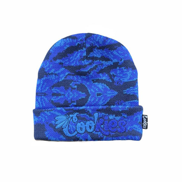 Cookies-Top Of The Key Camo Beanie-Blue