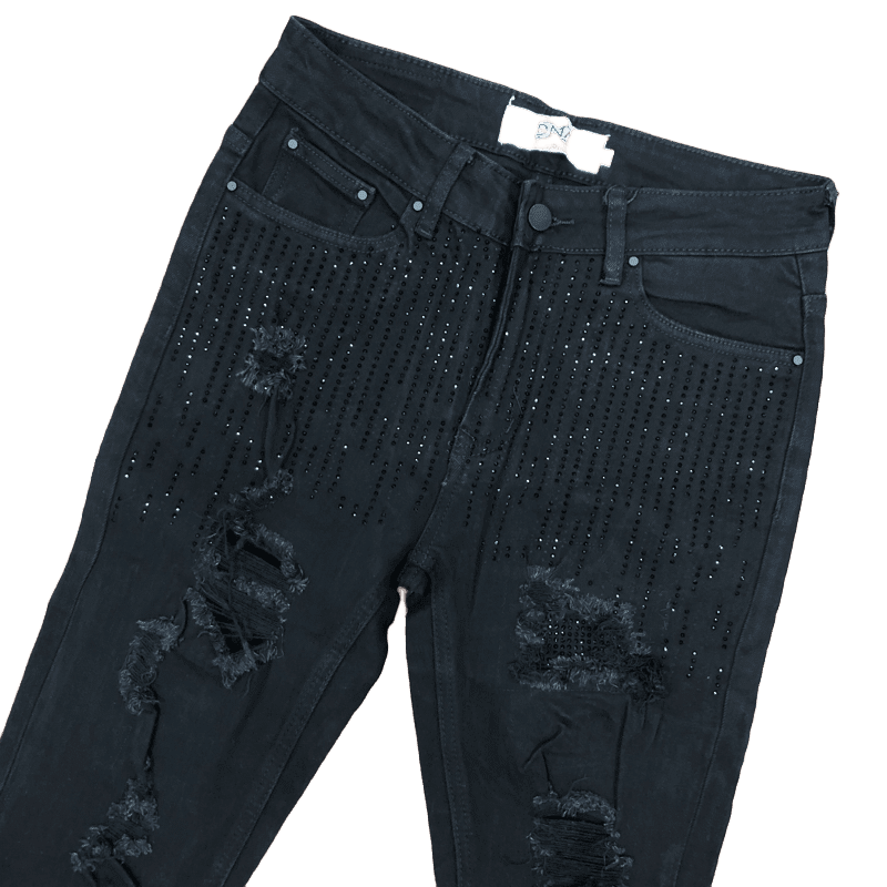 DNA-Drop Crystal Jeans Black Stone-Black