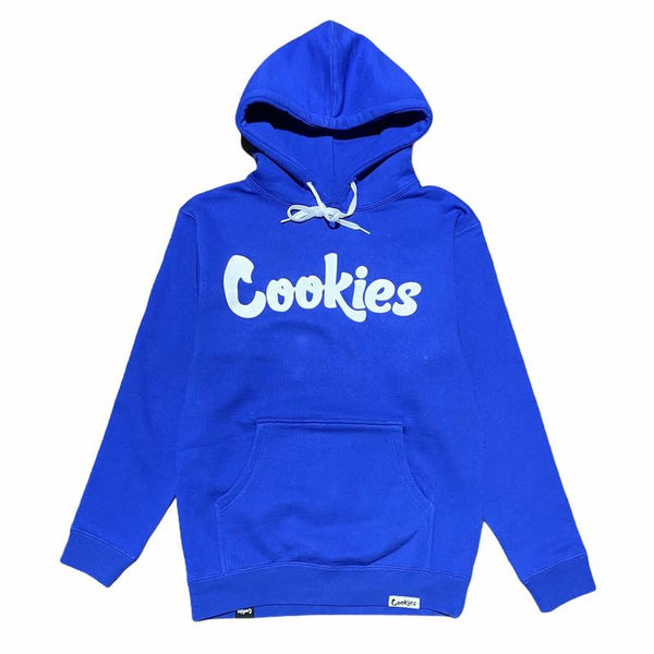 Cookies-Original Mint Fleece Hoodie-Royal/White