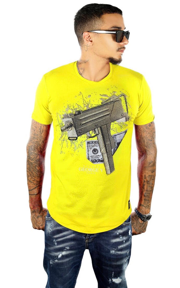 George V-Uzi Tee-Yellow