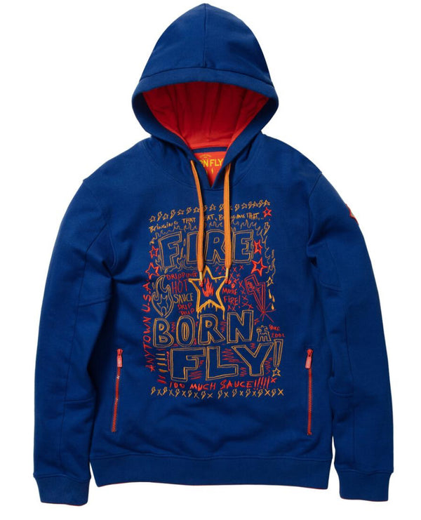 Born Fly-Hot Pepper Loopback Hoodie