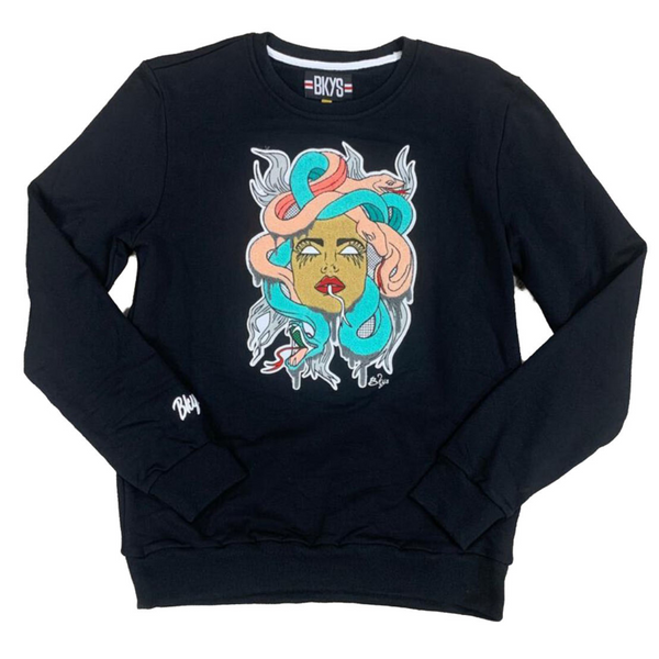 BKYS-Snake Lady Crewneck-Black