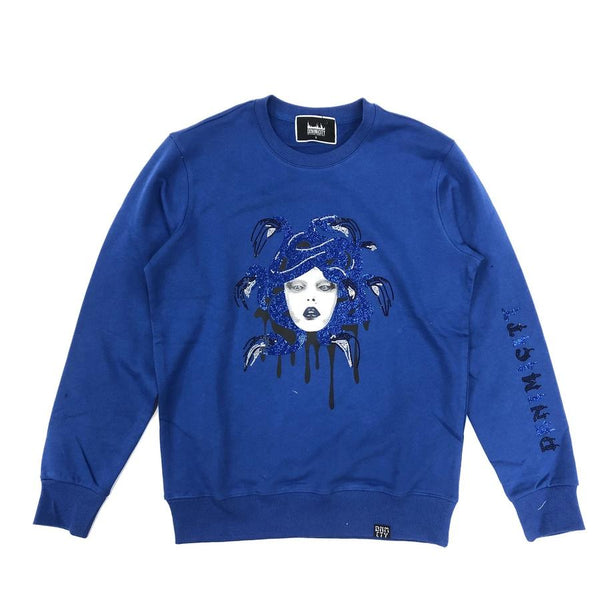 Denimicity-Medusa Crewneck-Royal Blue