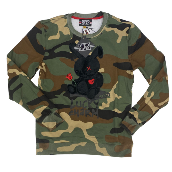 BKYS-Lucky Charm Sweater-Camo