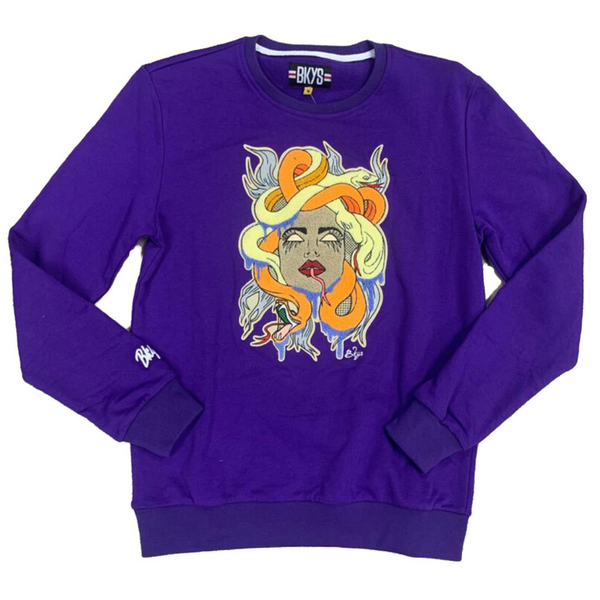 BKYS-Snake Lady Crewneck-Purple