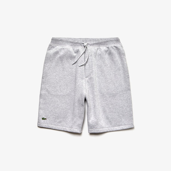 LaCoste-Men's SPORT Fleece Shorts-Grey/White • MTG-GH3570