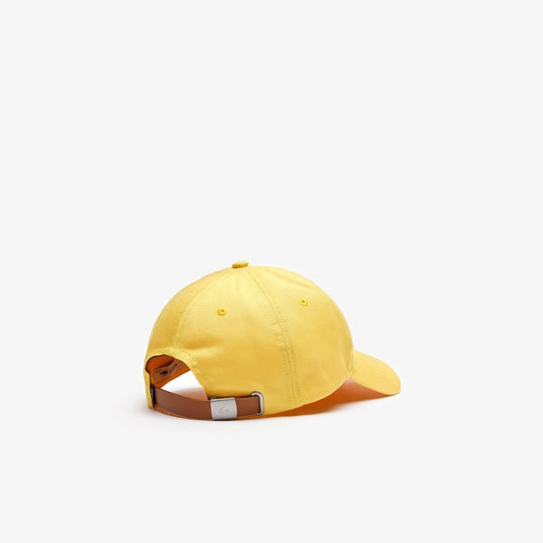 LaCoste-Men's Oversized-Croc Cap-Yellow • Z0A-RK4711-51