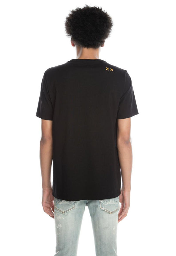 Cult Of Individuality-Teddy S/S Tee-Black-620B8-K62A