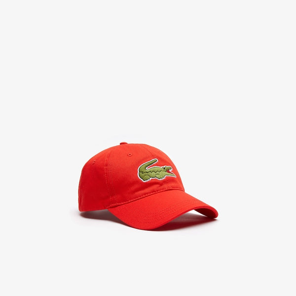 LaCoste-Men's Oversized-Croc Cap-Red • S5H-RK4711-51