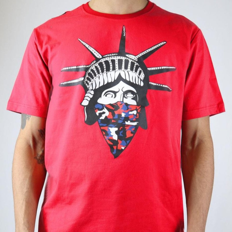 Preme-Masked Liberty Tee-Red-PR-KT-040