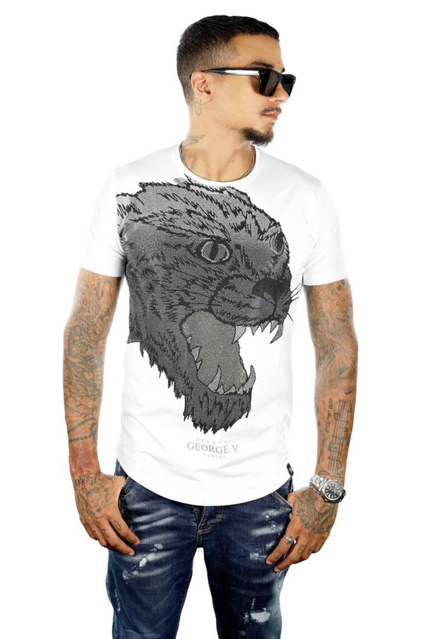 George V Pairs-Men's Jaguar Tee-White-GV2053