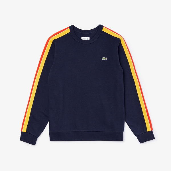 Lacoste-Sport Contrast Bands Sweatset-Navy Blue/Yellow/Red/Blue/White • H89