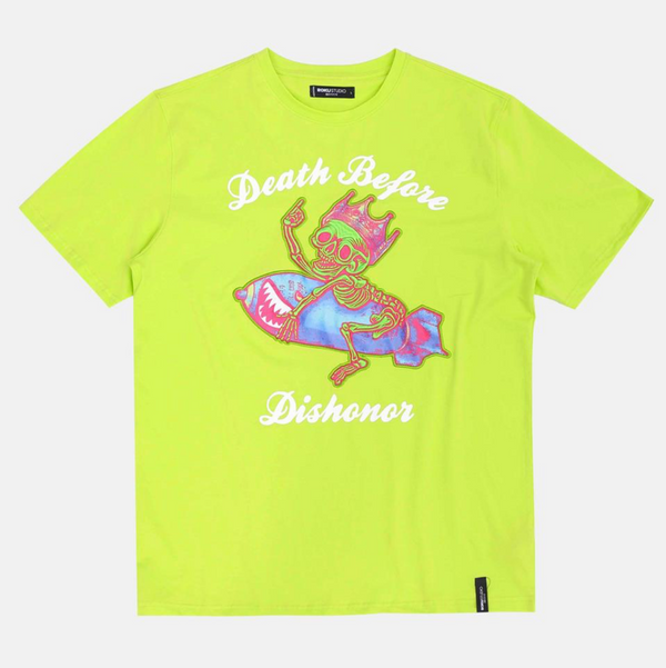Roku Studio-Death Before Dishonor Tee-Lime