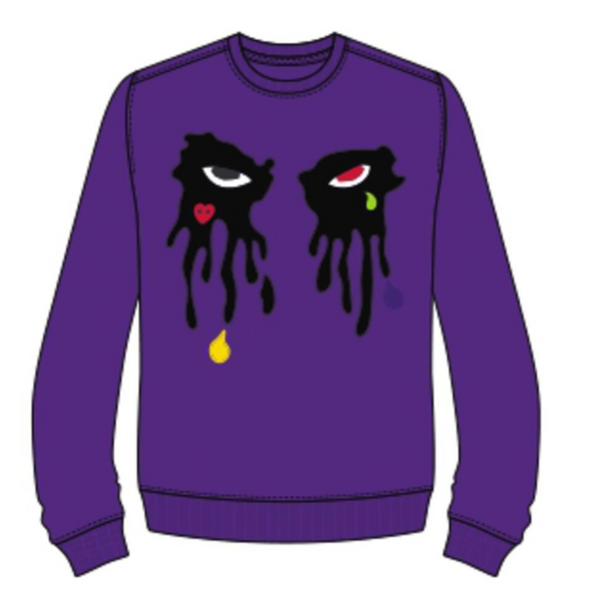 Roku Studio-Tear Dripping Crewneck-Purple