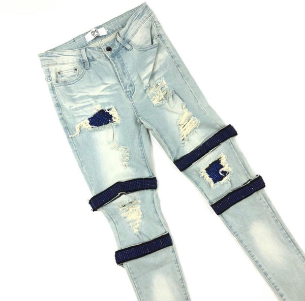 DNA-Strap Royal Crystal Jeans-Blue