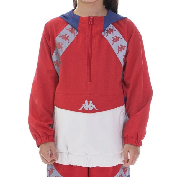Kappa Kids-222 Banda Afien Reflective Anorak-Red/Blue Reflective