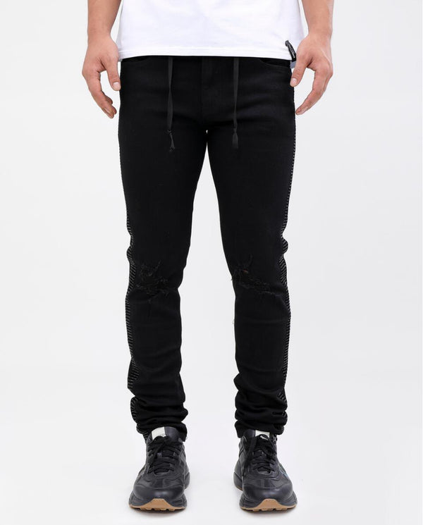 Eternity-Black Stone Taped Jeans-Black