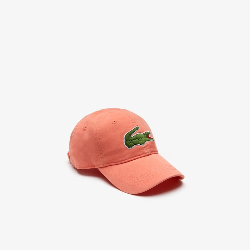 LaCoste-Men's Big Croc Gabardine Cap-Light Orange • AEE-RK8217