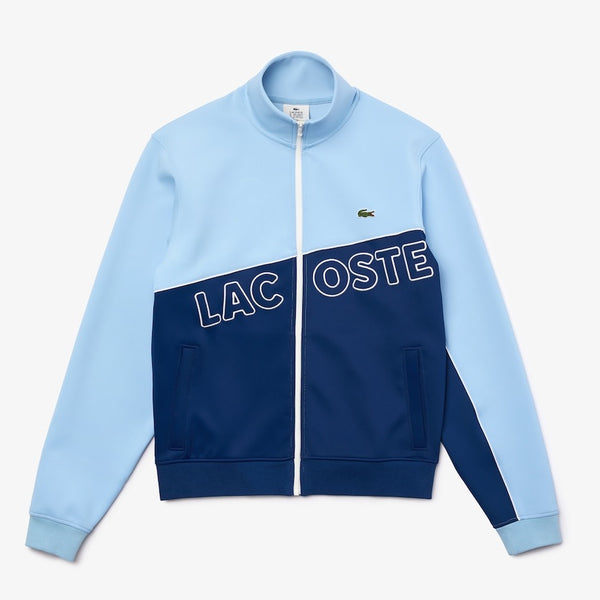 Lacoste-Men's LIVE Colorblock Neoprene Tracksuit-Blue • EZ9