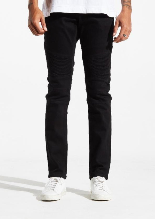 Embellish NYC-Spencer Biker Jeans-Black