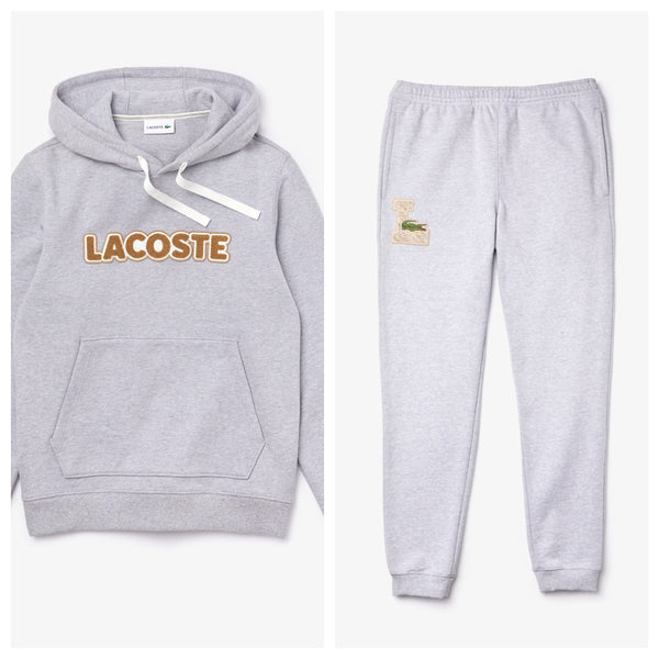Lacoste-Fleece Sweat Set-Grey Chine • CCA