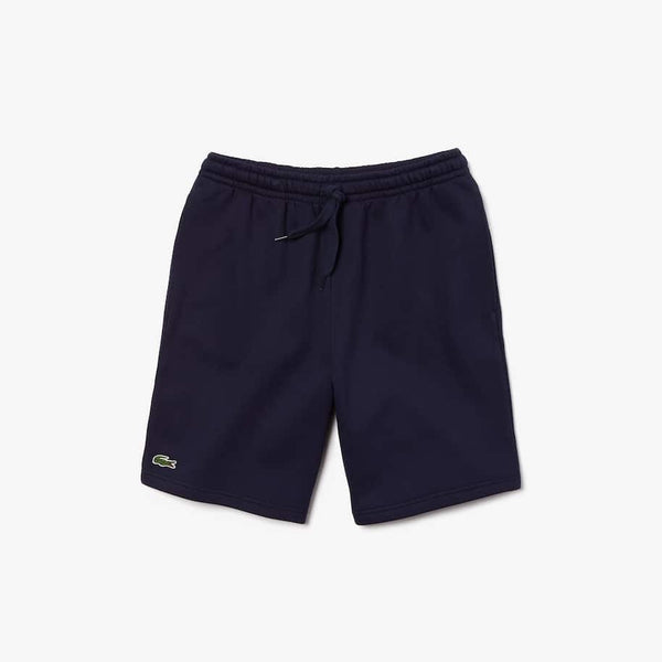 LaCoste-Men's SPORT Tennis Fleece Shorts-Navy Blue • 166-GH2136-51