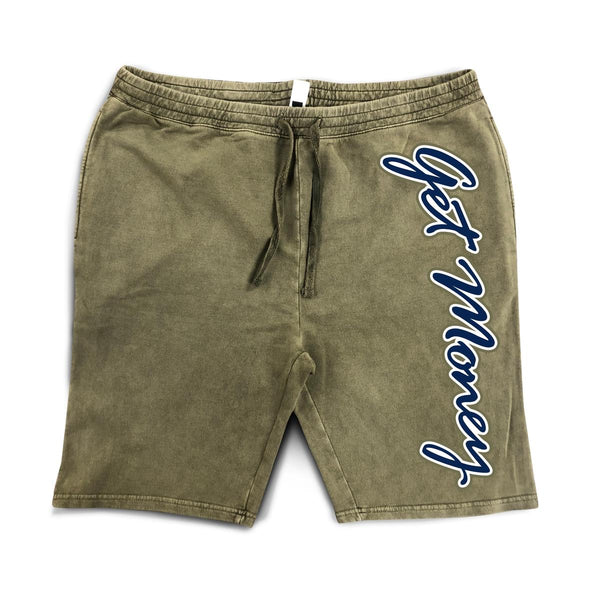 Hasta Muerte-Get Money Logo Shorts-Olive