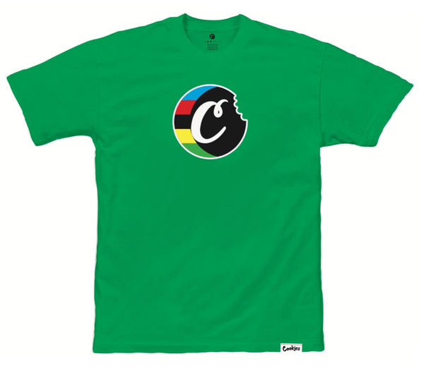 Cookies-Tour De Fire C-Bite Logo Tee-Kelly Green