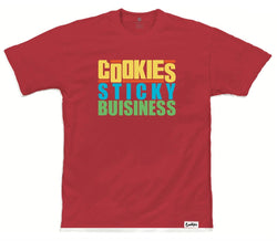 Cookies-Sticky Business Tee-Red