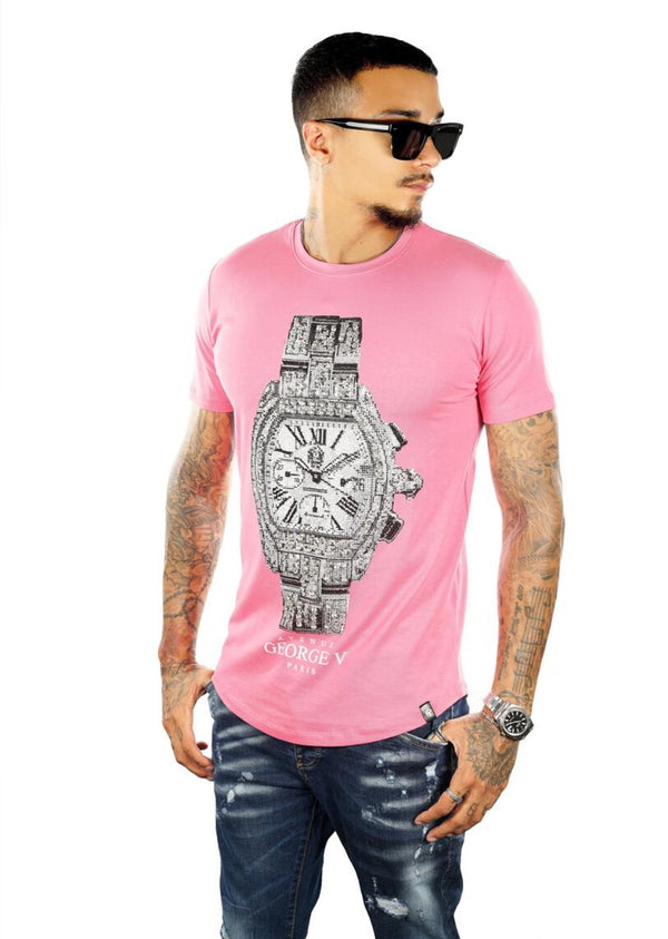 George V Pairs-Rolex Tee-Pink-GV2055