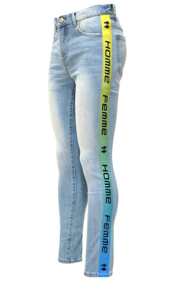 Homme+Femme-Tesla Denim Blue With Yellow Gradient-Blue