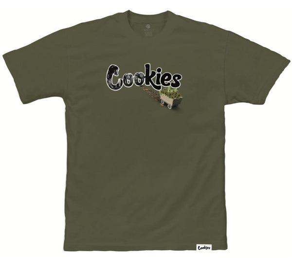 Cookies-Mining Tee-Olive Green