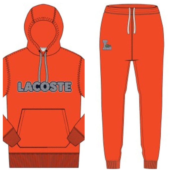 Lacoste-Fleece Sweat Set-Red • 3B2