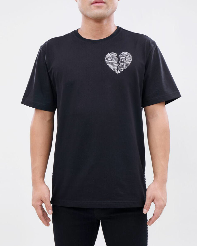 Eternity-Broken Heart Silver Stone Tape Shirt-Black