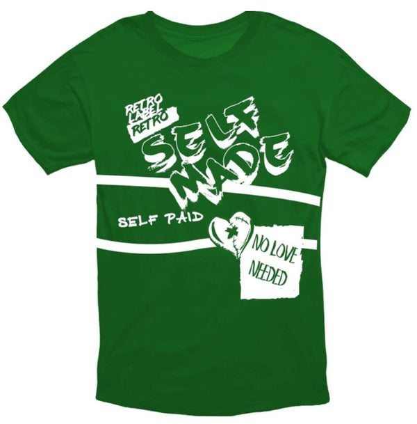 Retro label-Self Made-Green